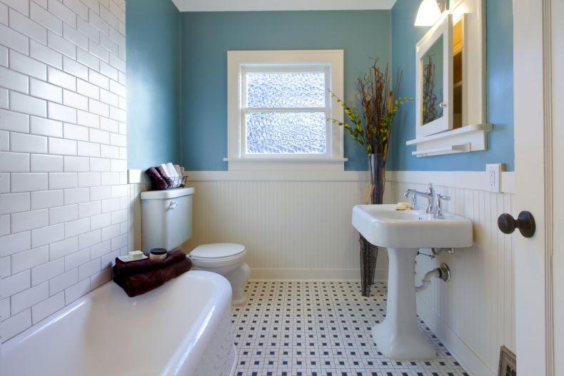 luksusowa łazienka w stylu retro